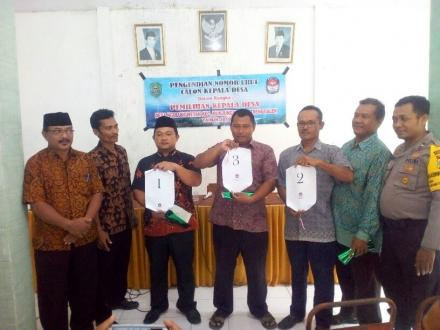 Pengundian Nomor Urut Calon Kepala Desa dan Penetapan DPT Desa Ngulungwetan Periode 2019 - 2025